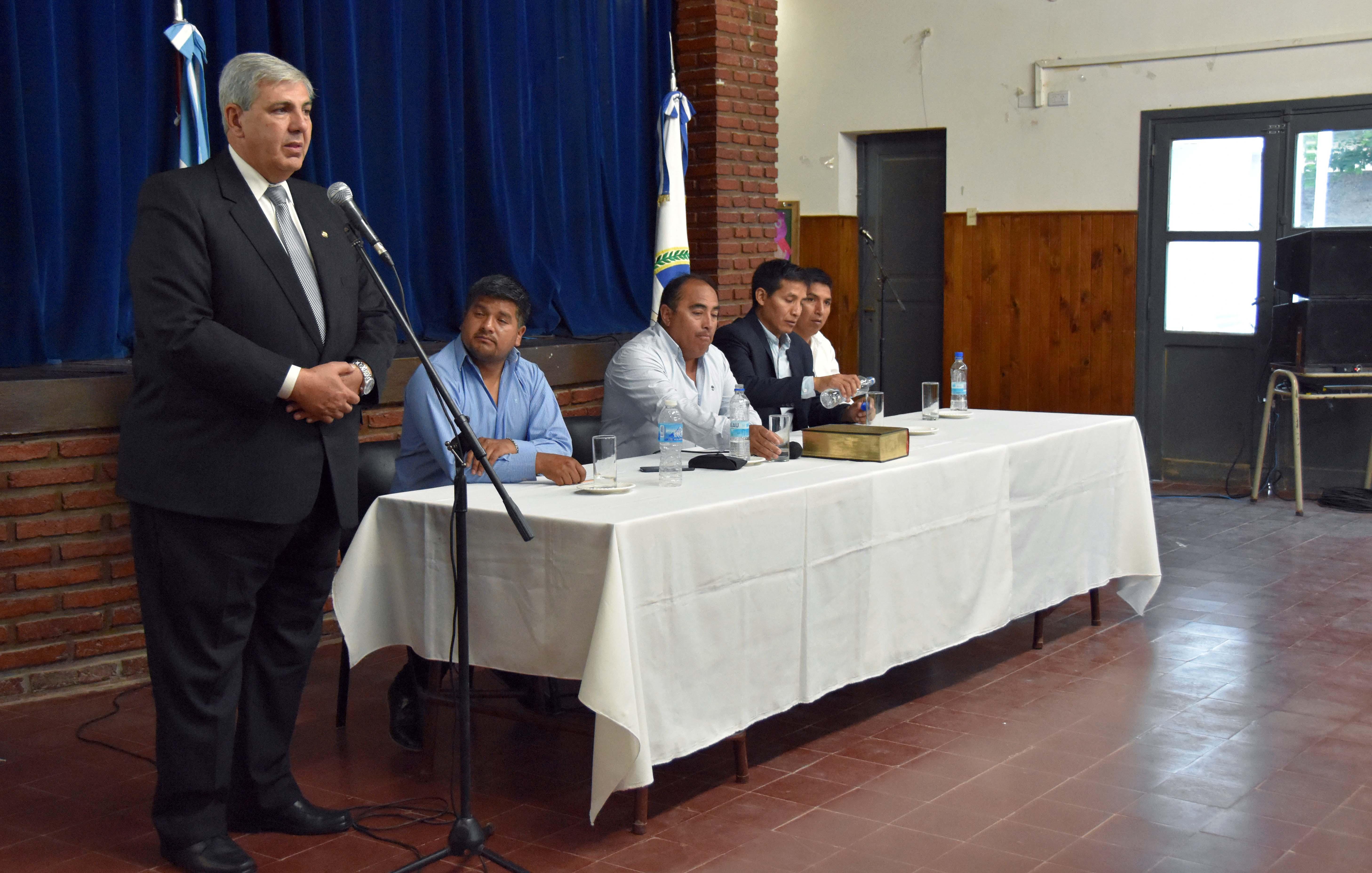 Rubén Gonzalez juró como Pte. de Comisión Municipal