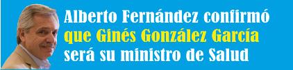 Alberto Fernández confirmó que Ginés González García será su ministro de Salud