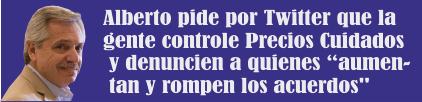 Alberto Fernández pide por Twitter que la gente controle Precios Cuidados y denuncien a quienes «aumentan y rompen los acuerdos»
