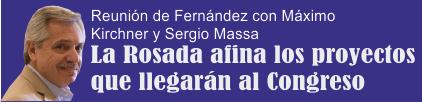 La Casa Rosada afina los proyectos que llegarán al Congreso