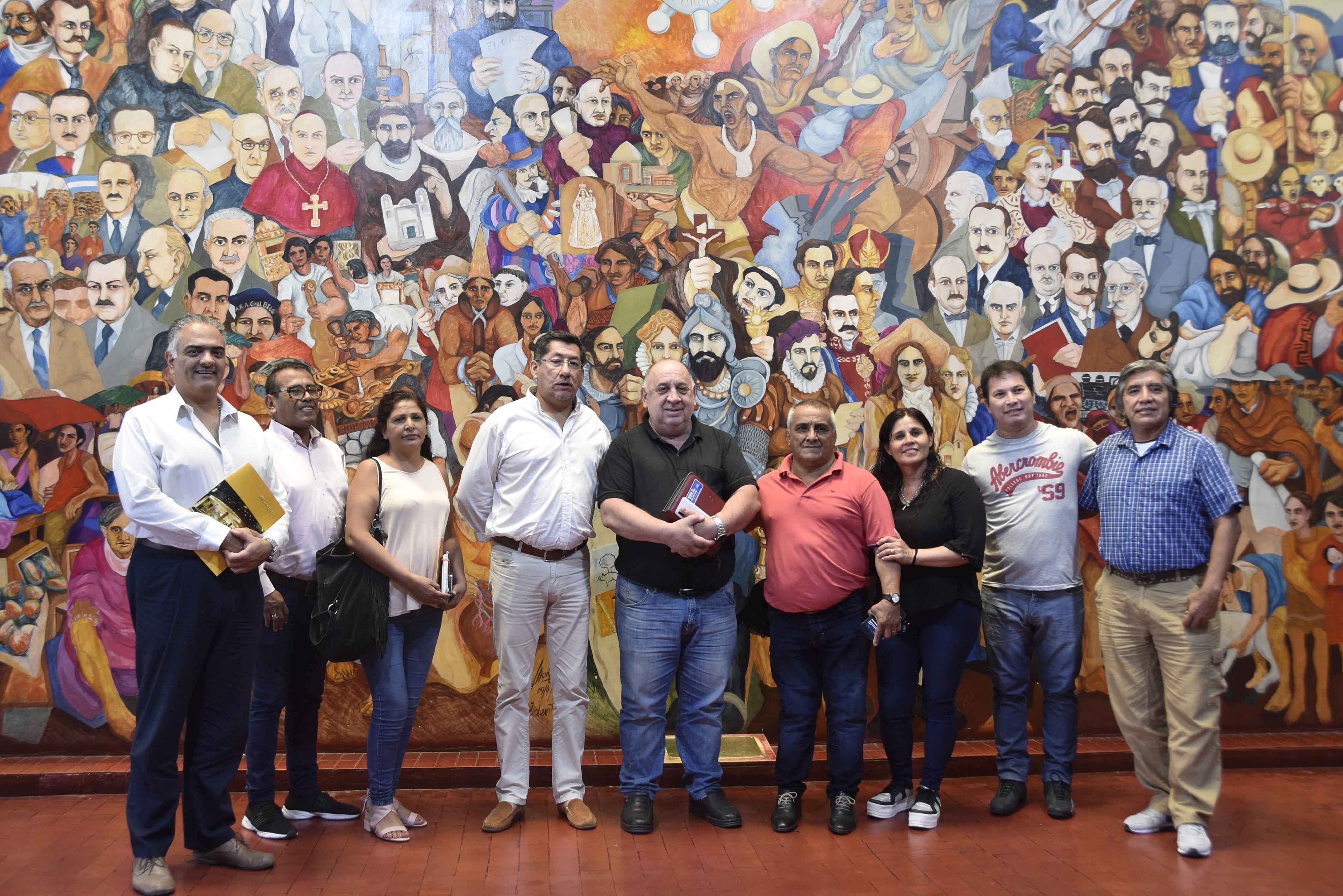 Haquim recibió a Secretarios Generales de Asociaciones de Empleados Legislativos