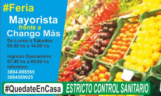 Feria Mayorista «Frente a Chango Más» operará de lunes a sábados