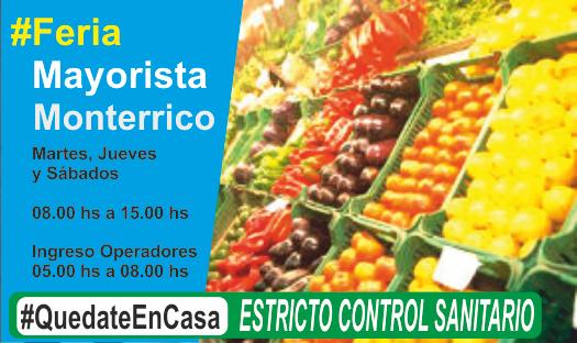 El Jueves reabre Feria Mayorista de Monterrico de 08.00 a 15.00 hs