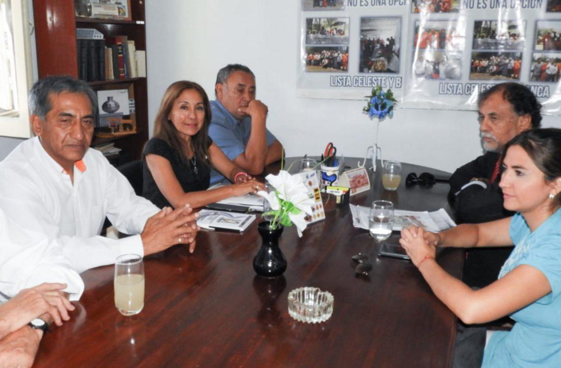 Alvarez García visitó a trabajadores viales