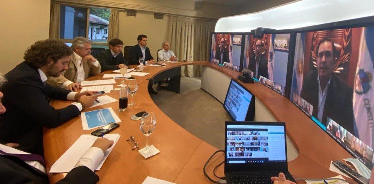 Alberto Fernández recogió el apoyo de los gobernadores para continuar con la cuarentena obligatoria