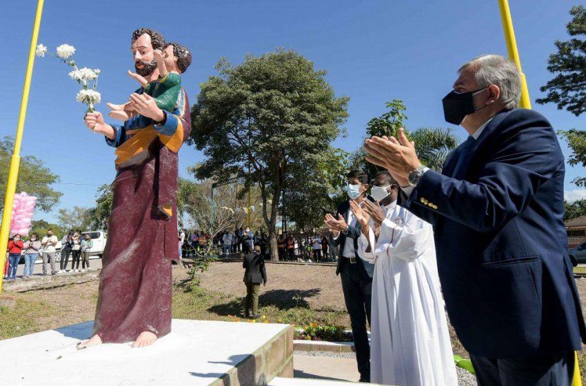 Gerardo Morales encabezó las honras a San José Obrero en El Sauzal