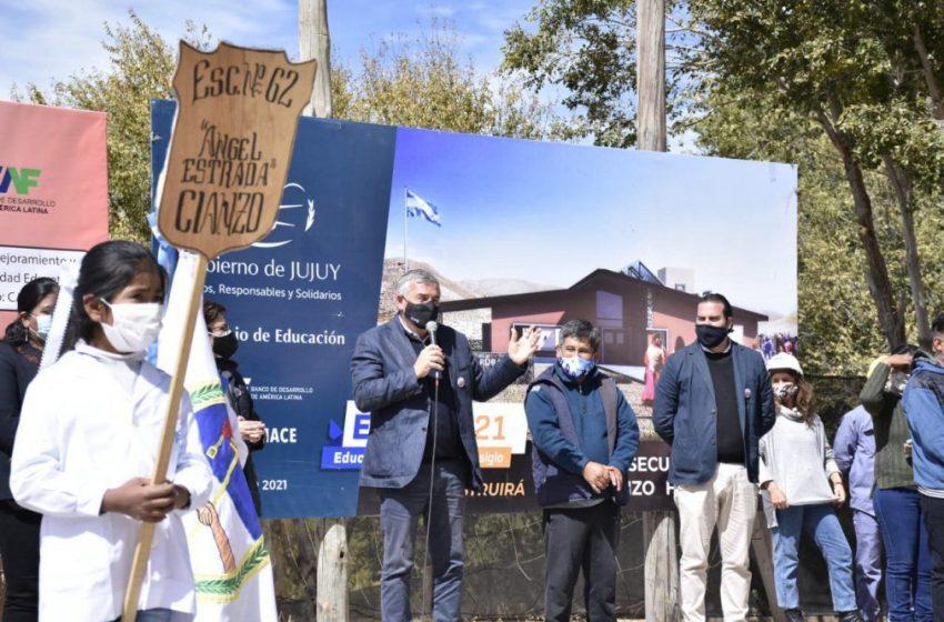 «En Cianzo» Comenzó la construcción del edificio para el Secundario Rural Virtual Nº 2